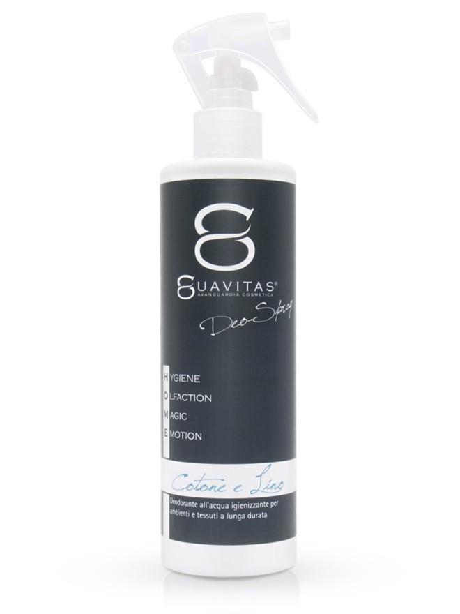 Deodorante per ambienti e tessuti Cotone e Lino Suavitas